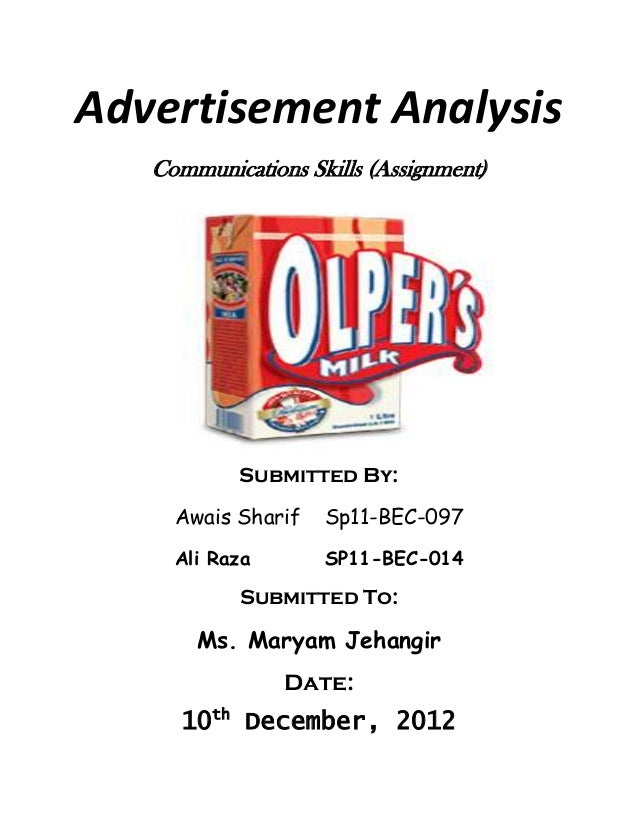 critical analysis essay advertisement