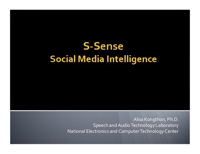 Alisa  Kongthon,  Ph.D.   Speech  and  Audio  Technology  Laboratory   National  Electronics  and  C...