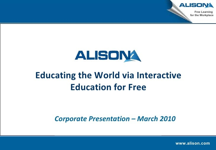 Alison Corporate Presentation   March 2010(3)