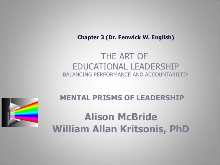 Ch 3 Mental Prisms of Leadership by Fenwick W. English, PhD