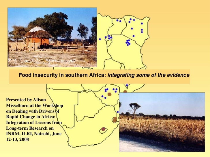 Food insecurity in southern Africa: integrating some of the evidence<br />Presented by Alison Misselhornat the Workshop on...