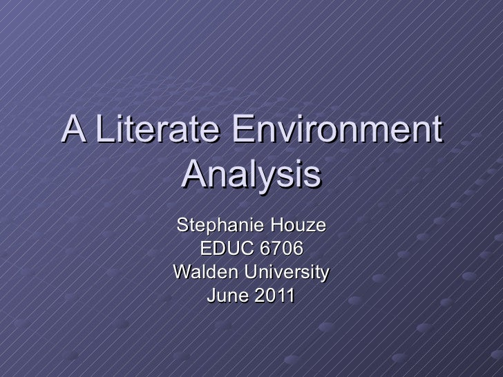 A literate environment analysis