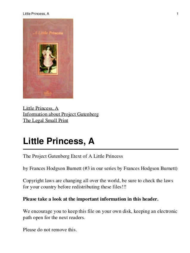Little Princess, A                                                          1Little Princess, AInformation about Project G...