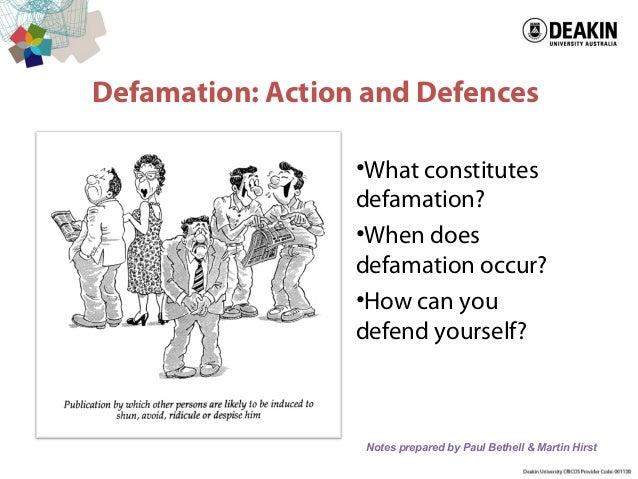 ALJ724 defamation lecture 2013