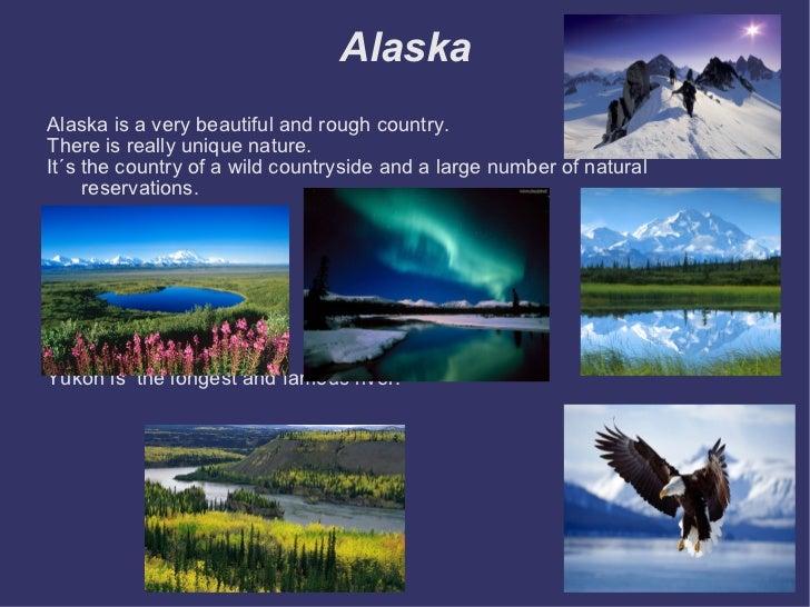 Alaska <ul><li>Alaska is a very beautiful and rough country. </li></ul><ul><li>There is really unique nature. </li></ul><u...