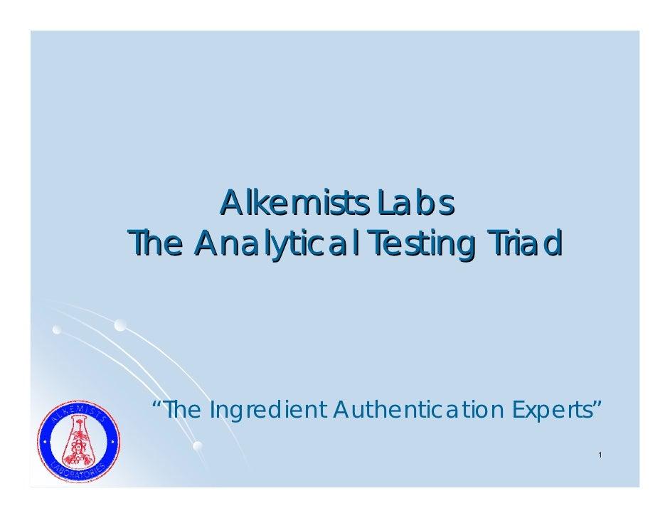 Alkemists - Analytical Services Triad