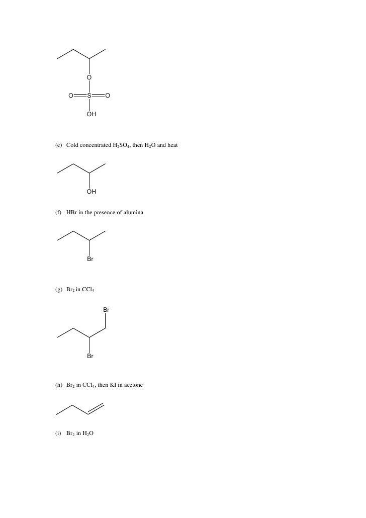 Alkene H2 Structural Formula