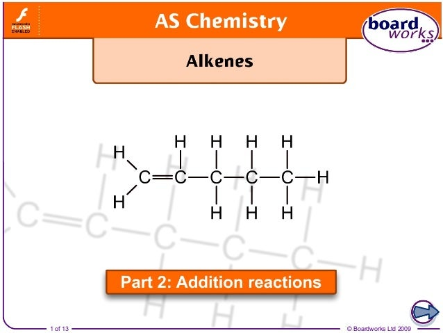 Alkenes part 2   addition reactions