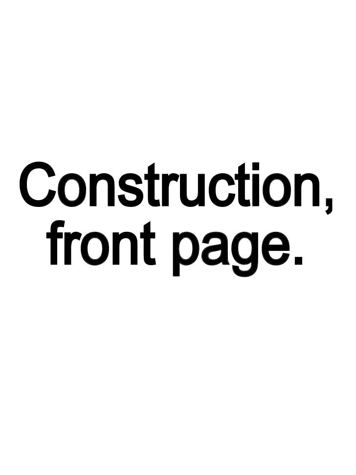 Construction of my Front Page, includes final peice.