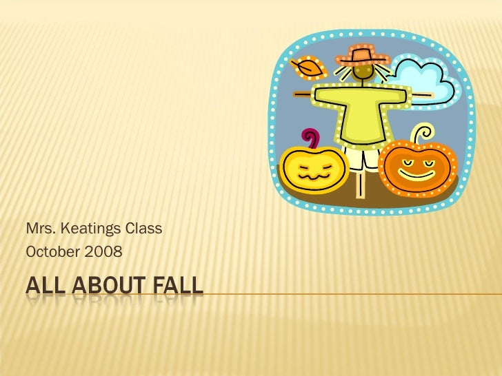 Mrs. Keatings Class October 2008