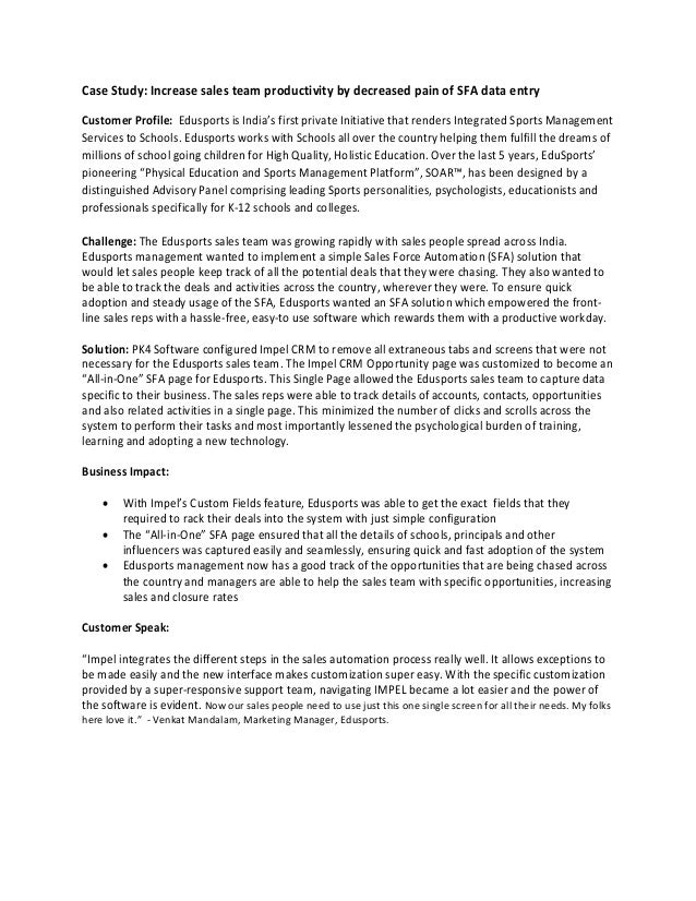 All in-One SFA Case Study