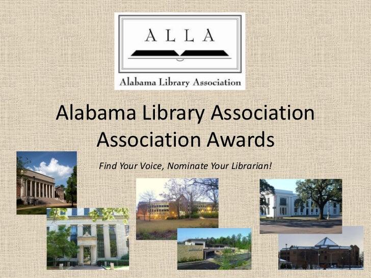 Alla association awards   please nominate!