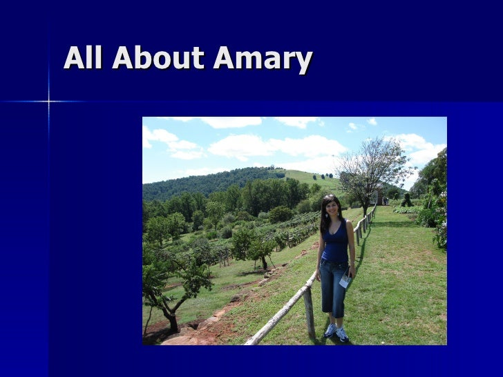 All About Amary