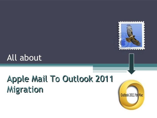All about Apple Mail To Outlook 2011Apple Mail To Outlook 2011 MigrationMigration