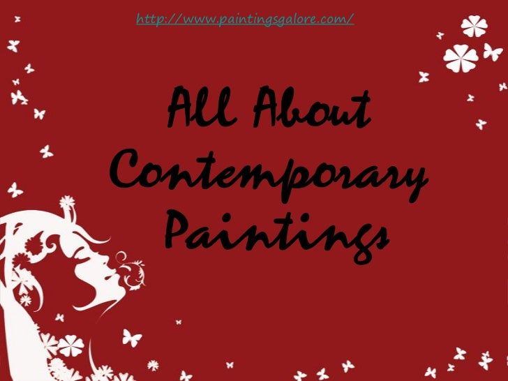 Information About Contemporary Paintings
