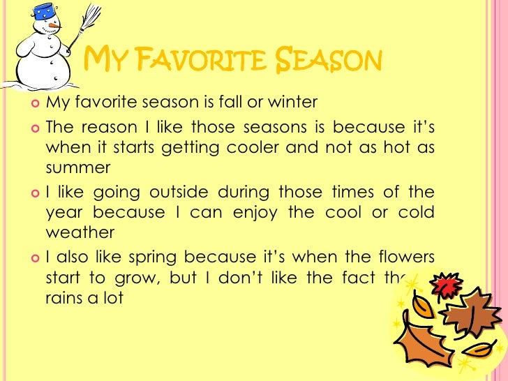 an essay on my favourite season winter
