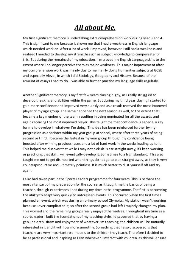 How Do You Write An Interesting All About Me Essay?