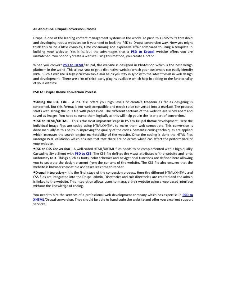 All About PSD Drupal Conversion Process