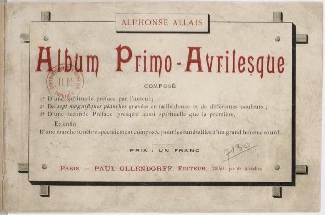 Allais alphonse (Album primo-avrilesque, 1897)