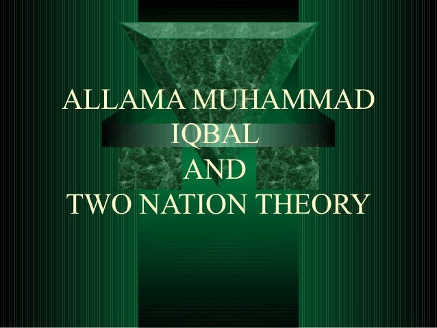 allama iqbal and the concept of Lecture iii: the conception of god and the meaning of prayer   7, for allama  iqbal's observations on the respective attitudes of christianity and islam towards .