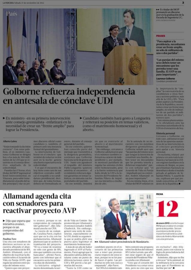 Allamand agenda reunión con bancada RN por AVP- La Tercera