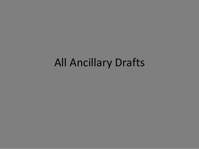 All Ancillary Drafts