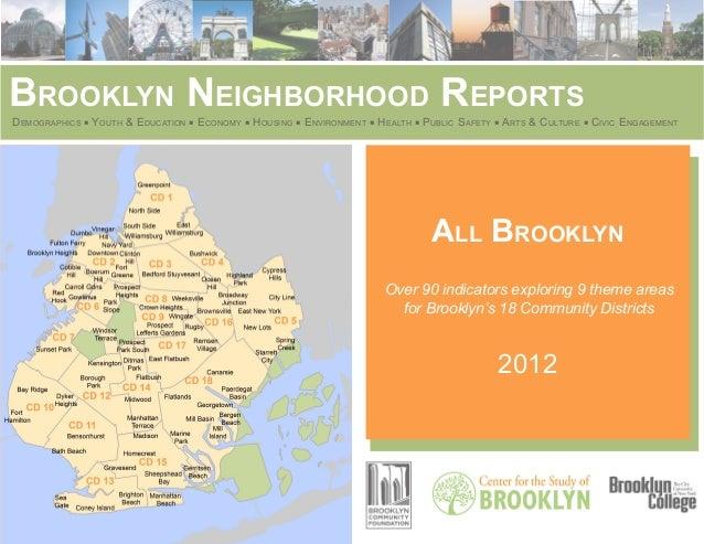 Brooklyn Neighborhood ReportsDemographics ■ Youth & Education ■ Economy ■ Housing ■ Environment ■ Health ■ Public Safety ■...