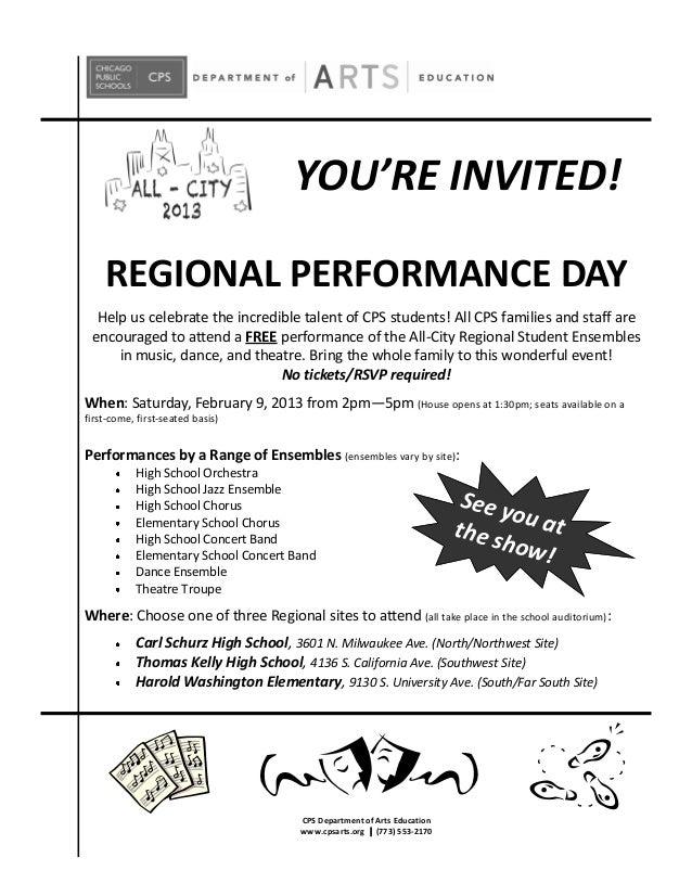 Chicago Public Schools -- All City Regional Performance Announcement