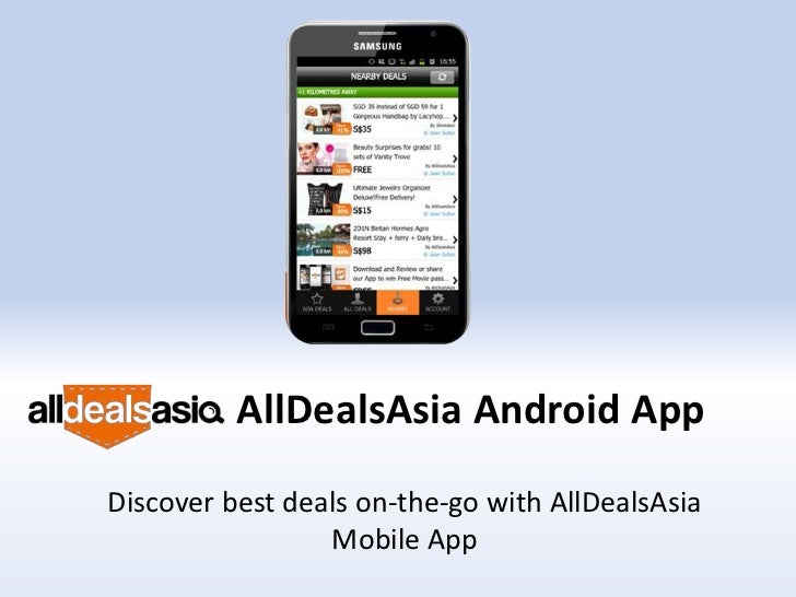 AllDealsAsia Android App user guide