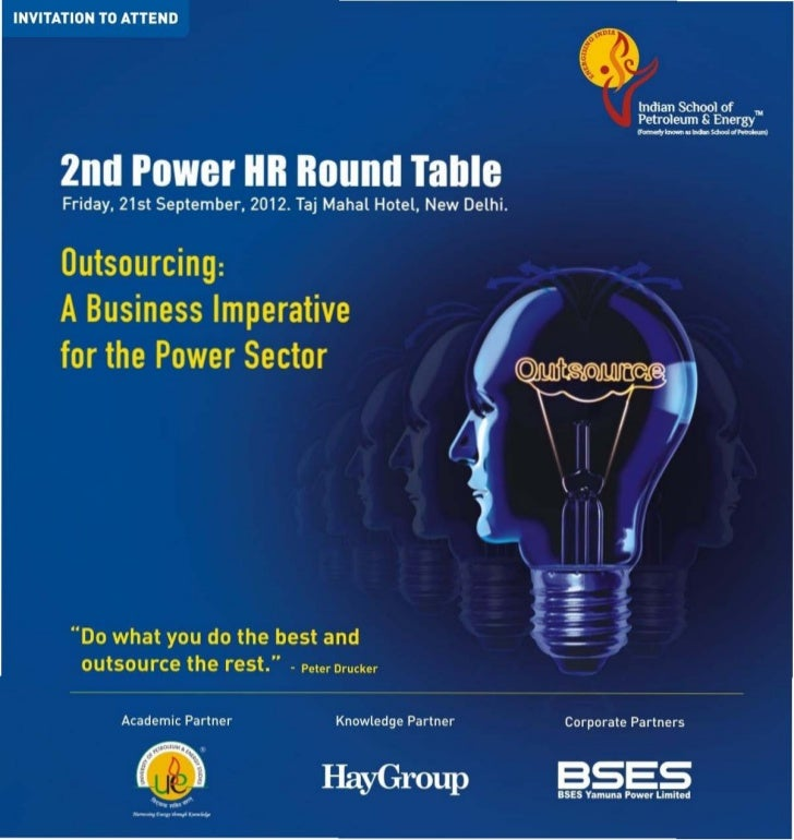 Outsourcing : A Business Imperative for the Power Sector