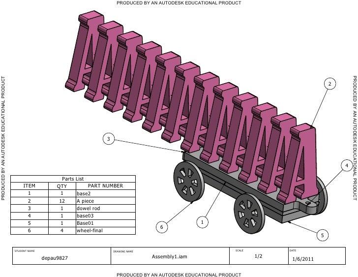 A Train Dimensioned Parts