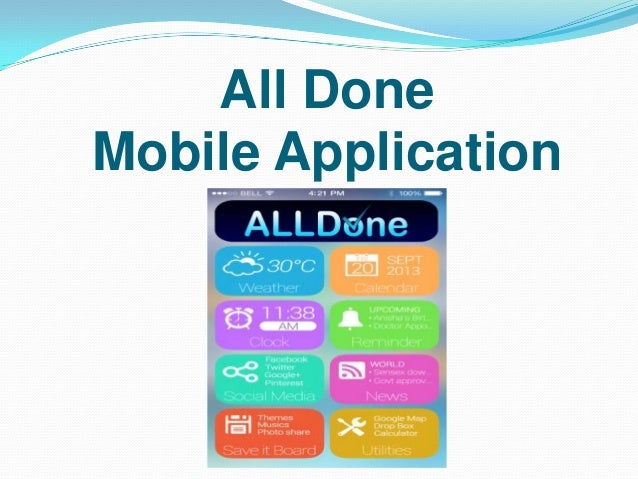 All Done Mobile Application
