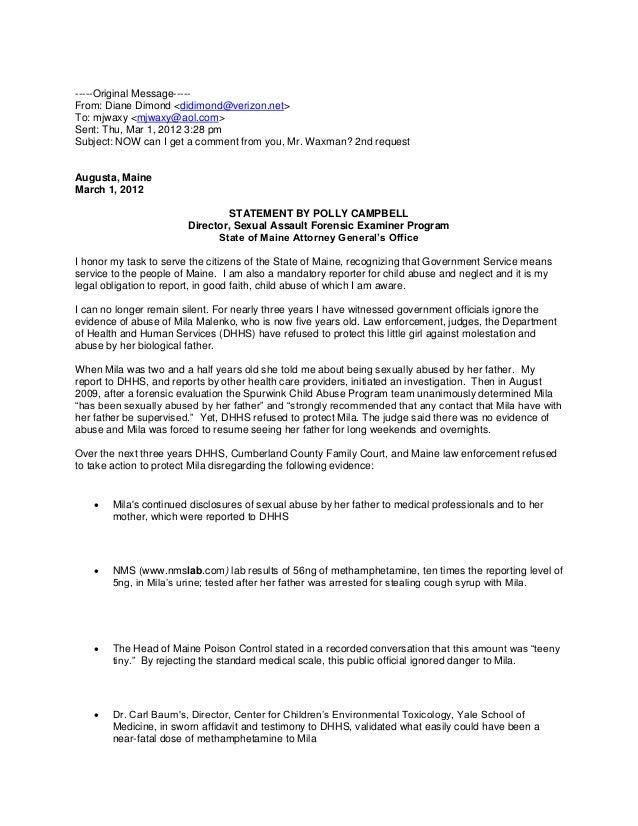 Alleged campbell statement