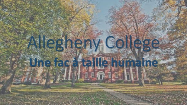 Allegheny College Une fac à taille humaine