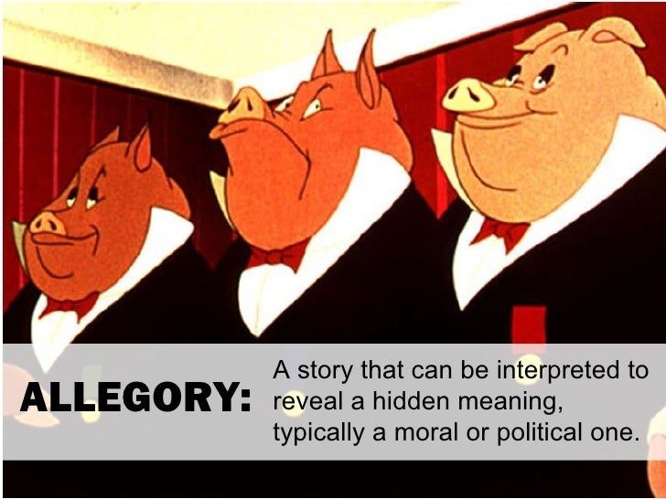 A story that can be interpreted toALLEGORY:   reveal a hidden meaning,            typically a moral or political one.