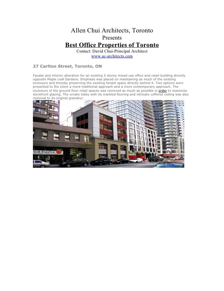 Allen chui office properties