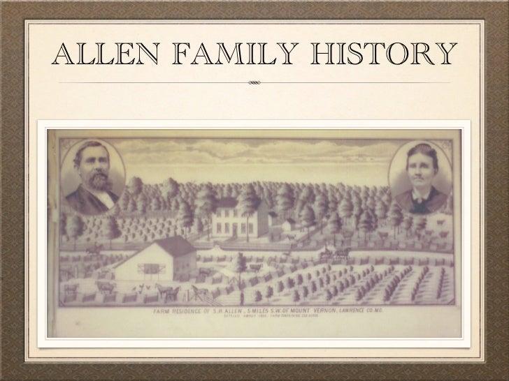 Allen family history presentation