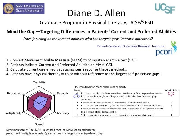 Diane D. Allen                             Graduate Program in Physical Therapy, UCSF/SFSUMind the Gap—Targeting Differenc...