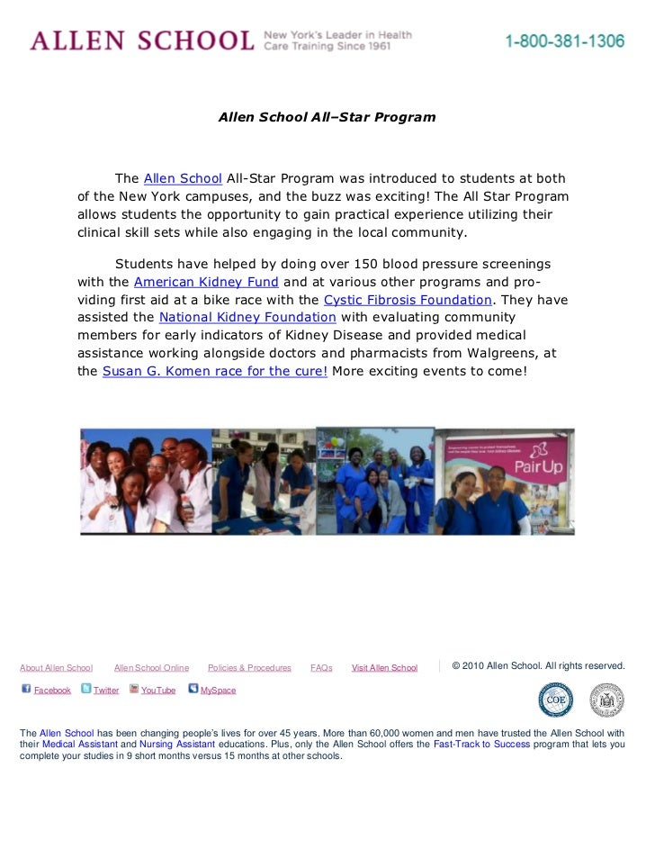 -695325-262890<br />Allen School All–Star Program<br />The Allen School All-Star Program was introduced to students at bot...