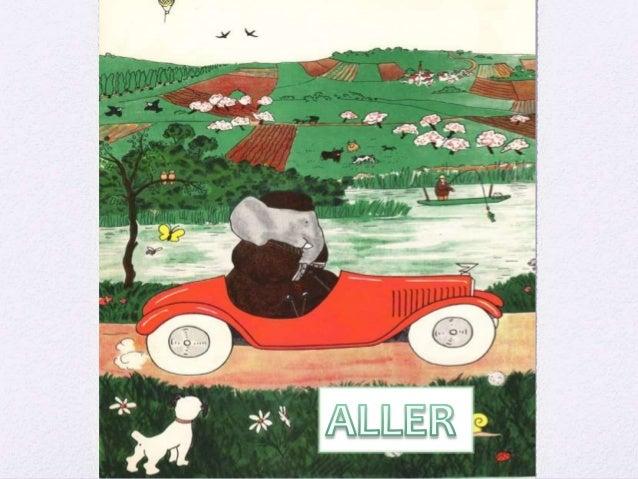 Aller (à) = to go (to)  Je vais (I go)  Tu vas (You go)  Il/Elle va (He/She goes)  Nous allons (We go)  Vous allez (Y...