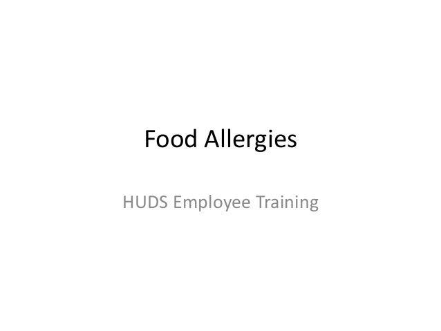 Food AllergiesHUDS Employee Training