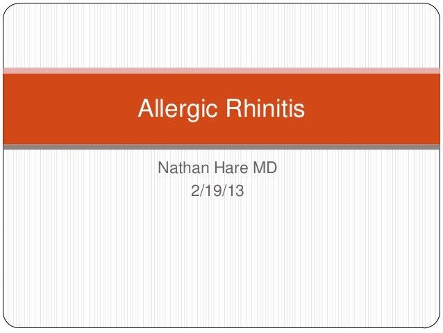 Allergic rhinitis 2