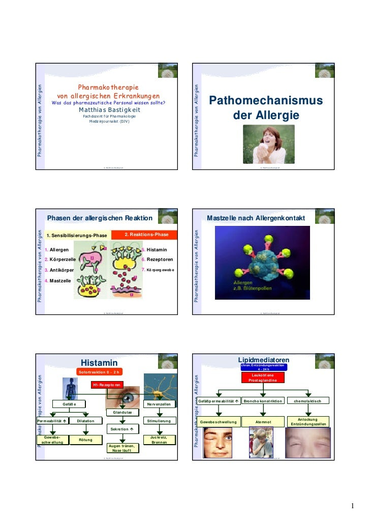 Pharmako therapie Pharmakotherapie von Allergien                                                                          ...