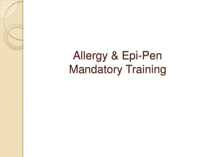 Allergy and epi pen