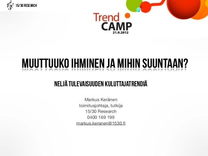 Trend camp 20.9.2012