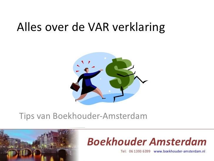 Alles over deVAR verklaring - Boekhouder Amsterdam