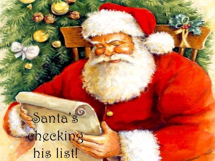 Santa's checking his list!<br />