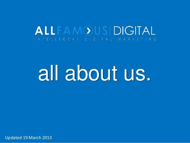 all about us.Updated 19 March 2013