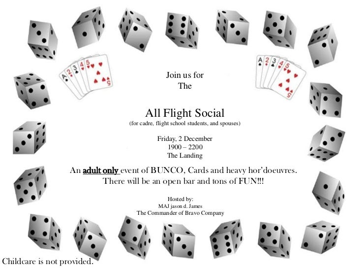 Join us for                                                    The                                        All Flight Socia...