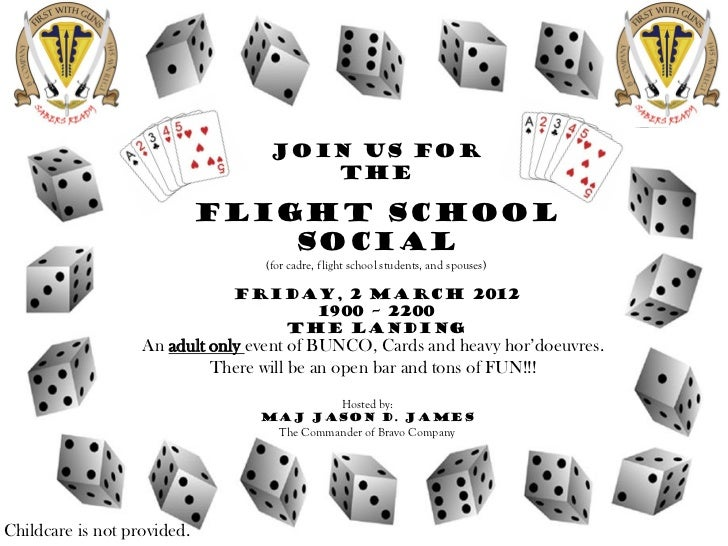 Join us for                                      The                             Flight School                            ...
